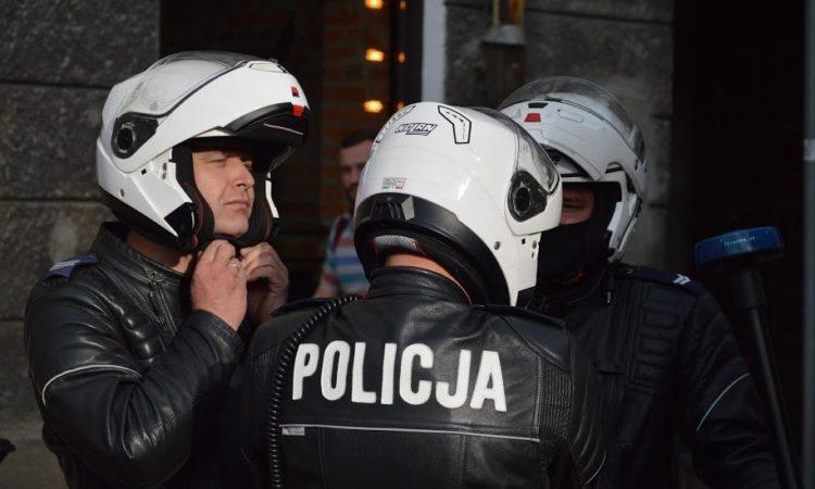 Motocyklowy patrol policji