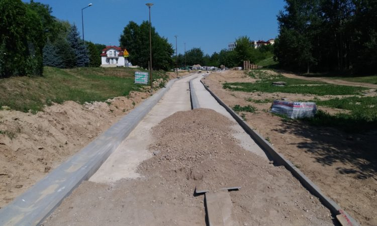 Budowa drogi rowerowej i chodnika