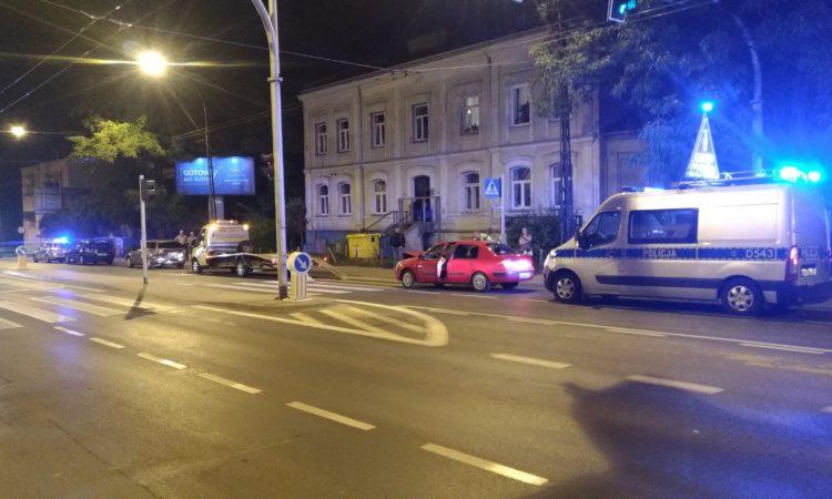 Wypadek drogowy nocą
