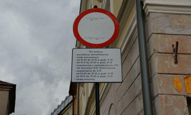 Zakaz wjazdu na Stare Miasto w Lublinie